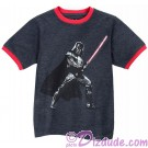 Darth Vader Youth Ringer T-shirt  (Tee, Tshirt or T shirt) - Disney Star Wars © Dizdude.com