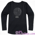 Rhinestone Death Star Long Sleeved Adult T-Shirt (Tshirt, T shirt or Tee) - Disney's Star Wars © Dizdude.com