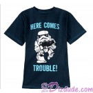 "Stormtrooper ""Here Comes Trouble"" Youth T-shirt  (Tee, Tshirt or T shirt) - Disney Star Wars © Dizdude.com"