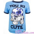 Disney Star Wars Episode VIII: The Last Jedi - You R2 Cute Toddler Ringer T-Shirt (Tshirt, T shirt or Tee) © Dizdude.com