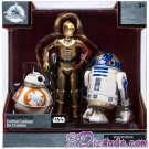 Elite Series Die Cast Action Figure Droid Set with BB-8 • C-3P0 • R2-D2