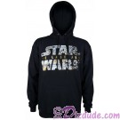Disney Star Wars Episode VIII: The Last Jedi Foil Title Logo Adult Hoodie © Dizdude.com