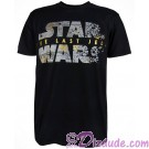 Disney Star Wars Episode VIII: The Last Jedi Foil Title Logo Adult T-Shirt (Tshirt, T shirt or Tee) © Dizdude.com