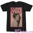 Star Wars Princess Leia Famous Love Quote I Love You Adult T-Shirt