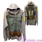 Disney Star Wars: Boba Fett Armour Adult Hoodie Printed Front & Back © Dizdude.com