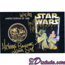 Star Wars Weekends 2003 Triple Autographed Gold Coin Front © Dizdude.com