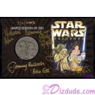 "Front of the ""BOUNTY HUNTERS"" Exclusive 2003 Disney Star Wars Collector Nickle Silver Coin ~ with 5 Star Wars Weekends Autographs © Dizdude.com"