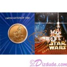 Star Wars Weekends Bronze Coin Front Autographed by Warwick Davis (Wicket) (#0920) ~ © Dizdude.com