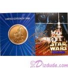 Star Wars Weekends Bronze Coin Front Autographed by Warrick Davis (Wicket) © Dizdude.com
