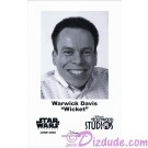 Warwick Davis who played The Ewok Wicket W. Warrick Presigned Official Star Wars Weekends 2008 Celebrity Collector Photo © Dizdude.com