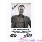 Dee Bradley Baker the voice of Captain Rex Presigned Official Star Wars Weekends 2010 Celebrity Collector Photo © Dizdude.com
