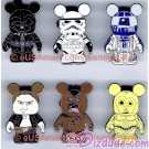 Official Star Wars Weekends 2010 Vinylmation PIN SET Darth Vader, Stormtrooper, R2-D2, Hans Solo, Chewbacca, and C-3PO  ~ © DIZDUDE.com