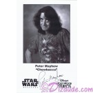 Peter Mayhew who played Chewbacca  Presigned Official Star Wars Weekends 2011 Celebrity Collector Photo © Dizdude.com