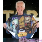 "Jeremy Bulloch (Boba Fett) Holding the ""Bounty Hunters"" Artist Proof By Kevin Graham ~ © Dizdude.com"