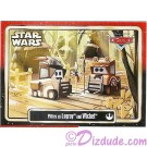 "Disney Pixar ""Cars"" as LucasFilms ""Star Wars"" Character Pitties as Ewoks Logray and Wicket Trading Card Series 3"