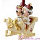 Disney Victorian Mickey Mouse And Minnie Mouse Sleigh Christmas Ornament © Dizdude.com