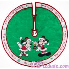 Disney Mickey And Minnie Holiday Christmas Tree Skirt © Dizdude.com