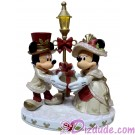 Disney Light Up Victorian Mickey and Minnie Christmas Figure © Dizdude.com