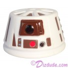 R6 White & Brown Astromech Droid Dome ~ Series 2 from Disney Star Wars Build-A-Droid Factory © Dizdude.com