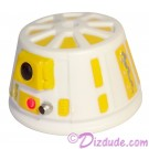 R6 White & Yellow Astromech Droid Dome ~ Series 2 from Disney Star Wars Build-A-Droid Factory © Dizdude.com