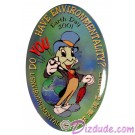 Walt Disney World Cast Member - Earth Day 2001 Jiminy Cricket Button © Dizdude.com