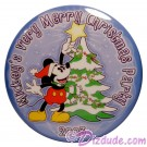 Walt Disney World Mickey's Very Merry Christmas Party 2003 Button © Dizdude.com