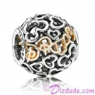 "Disney Pandora ""Dream"" 14 Karat Gold and Sterling Silver Charm"