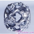 "Disney Pandora ""Mickey & Minnie Infinity"" Sterling Silver Charm with Cubic Zirconias"