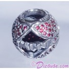 "Disney Pandora ""Minnie's Sparkling Bow"" Sterling Silver Charm with Red Cubic Zirconias - Disney World Parks Exclusive"