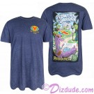 Blue Passholder Adult T-shirt (Tee, Tshirt or T shirt) - Disney Epcot International Flower & Garden Festival 2018