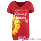 Disney Epcot International Flower & Garden Festival 2018 V-neck Ladies T-shirt (Tee, Tshirt or T shirt)