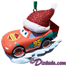 "Front of the Disney Pixar ""Cars"" Lightning McQueen Christmas Ornament © Dizdude.com"