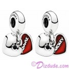 "Disney Pandora ""Mickey and Minnie"" Sterling Silver Heart Charm"