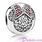 Disney Pandora Minnie Pavé Clip Sterling Silver Charm with Cubic Zirconias