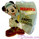 Autographed Walt Disney World Animal Kingdom - Mickey's Pin Adventure 2002 Pin-board with Mickey Mouse Completer Pin