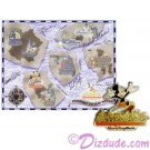 Autographed Walt Disney World Pin Pursuit - Passport to Our World Map Pin-Board 2001 with Mickey Mouse Completer Pin Limited Edition 5000 © Dizdude.com