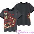 Disney Pirates of The Caribbean Skeleton Pirate Captain Youth Ringer T-shirt (Tee, Tshirt or T shirt)