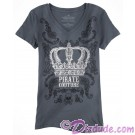 Pirate Couture Crown Ladies V-Neck T-shirt (Tee, Tshirt or T shirt)