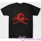 Pirate Mickey Mouse and Cross Bones Adult T-shirt (Tee, Tshirt or T shirt)