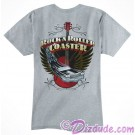Rock 'N' Roller Coaster Printed Front and Back Gray Adult T-Shirt (Tee, Tshirt or T shirt) - Disney Hollywood Studios