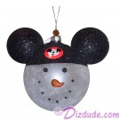 Disney Snowman Wearing Mickey Mouse Ears Christmas Tree Ornament © Dizdude.com