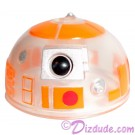 R3 Clear Orange Astromech Droid Dome ~ Series 2 from Disney Star Wars Build-A-Droid Factory © Dizdude.com