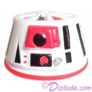R6 White & Red Astromech Droid Dome ~ Series 2 from Disney Star Wars Build-A-Droid Factory © Dizdude.com