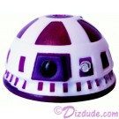 R9 White & Purple Astromech Droid Dome ~ Series 2 from Disney Star Wars Build-A-Droid Factory © Dizdude.com