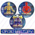 Star Wars Disney Droid Factory Button Set With C-3P0 • R2-C2 • R-3D0 © Dizdude.com