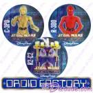 Star Wars Disney Droid Factory Button Set With C-3P0 • R2-C2 • R-3D0 © Dizdude.com
