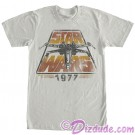 Disney Star Wars 1977 Vintage Styled Adult T-Shirt (Tshirt, T shirt or Tee) © Dizdude.com