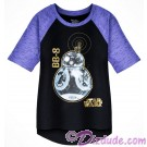 BB-8 Hi-Lo Raglan Youth T-Shirt (Tshirt, T shirt or Tee) Disney Star Wars: The Last Jedi © Dizdude.com