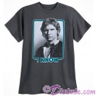 Disney Star Wars Han Solo I Know Companion Adult T-Shirt (Tshirt, T shirt or Tee) © Dizdude.com