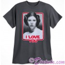 Disney Star Wars Princess Leia I Love You Adult Companion T-Shirt (Tshirt, T shirt or Tee) © Dizdude.com